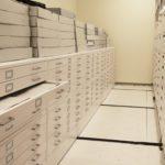 museum flat file cabinet storage