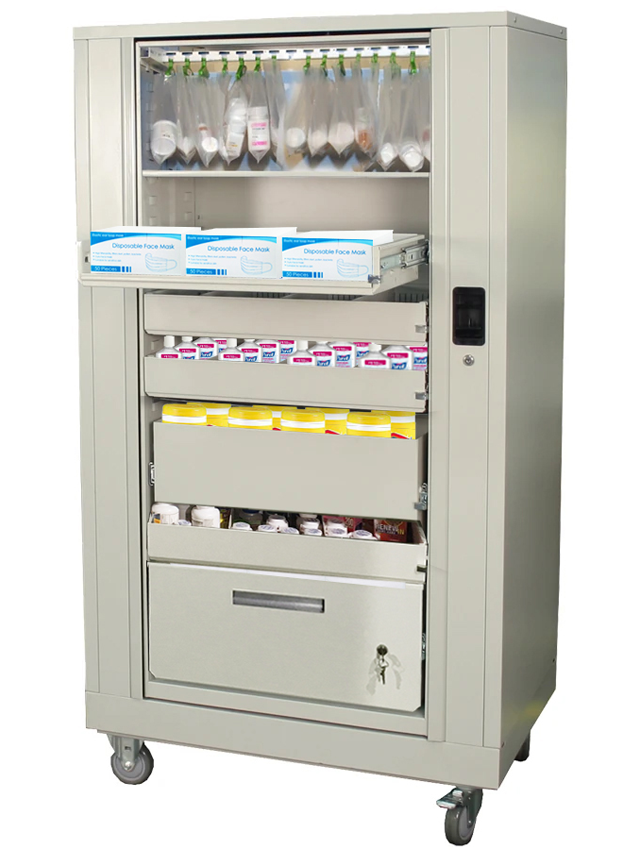 rotary cabinet for hospital supplies